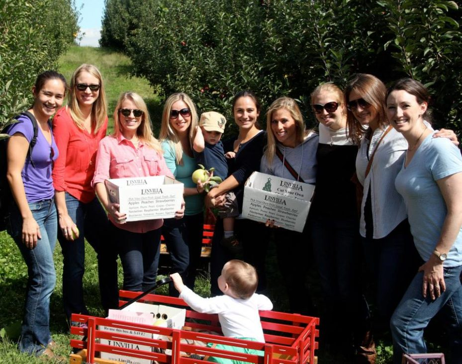 Wharton Partners enjoying the day apple picking