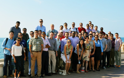 Wharton EMBA students in San Pol de Mar, Spain.