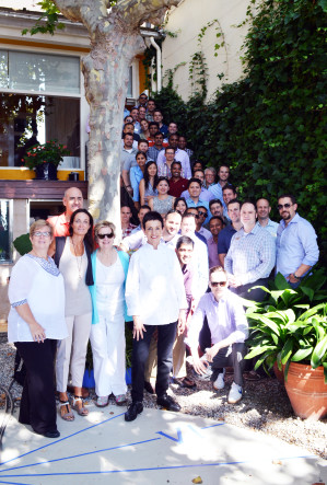 Wharton EMBA students in Spain with Chef Carme Ruscadella.