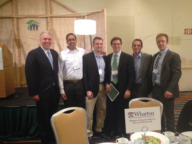 Greg Hagin and Wharton EMBA students at Habitat for Humanity Lunch