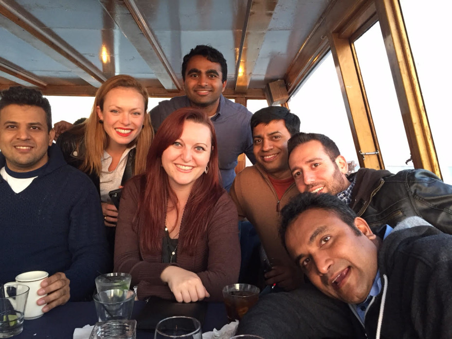 Jeni Incontro and classmates on a boat cruise