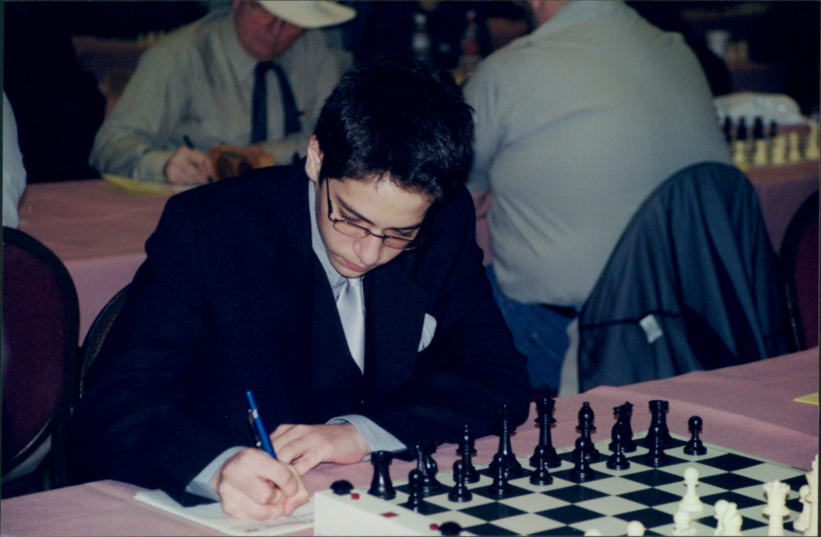AJ Steigman at a chess tournament as a teen