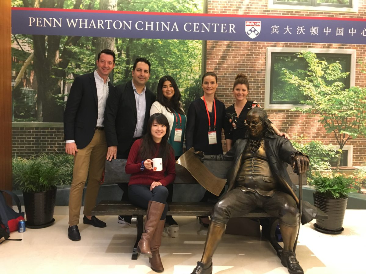 Andrew Rizi and EMBA classmates at Penn Wharton China Center
