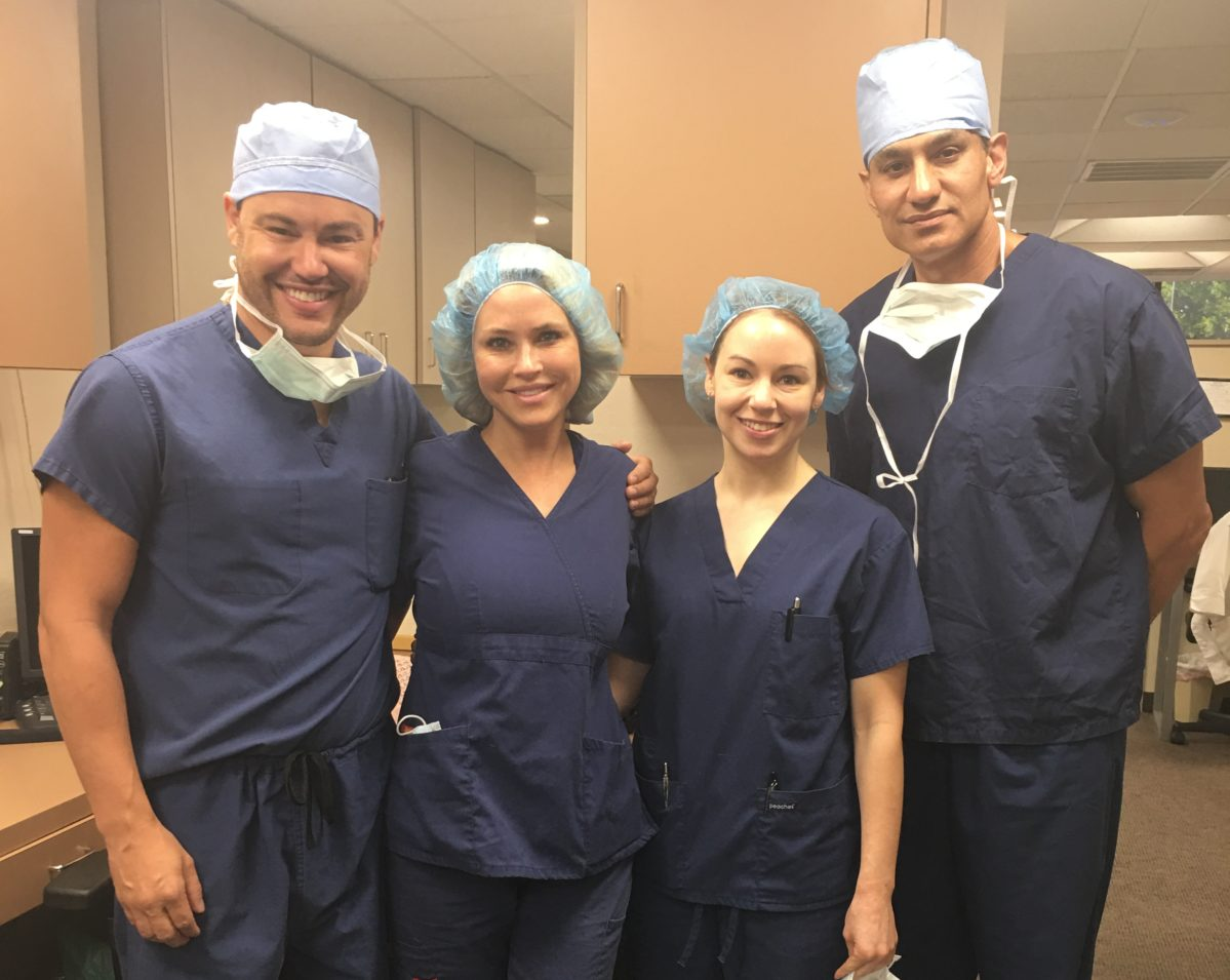 Dr. Amir Moradi with his surgical team