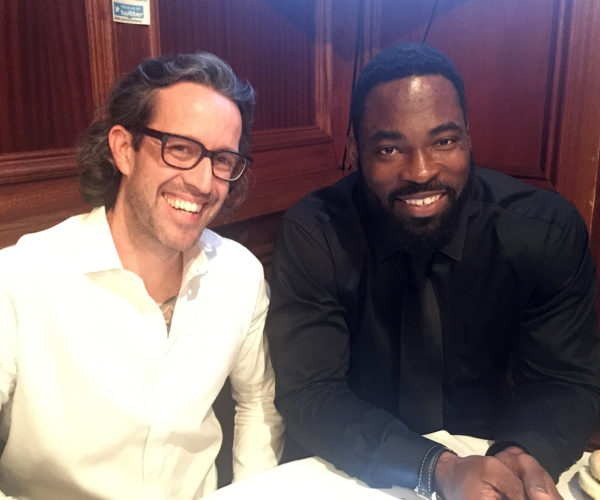 George Dutile and Justin Tuck