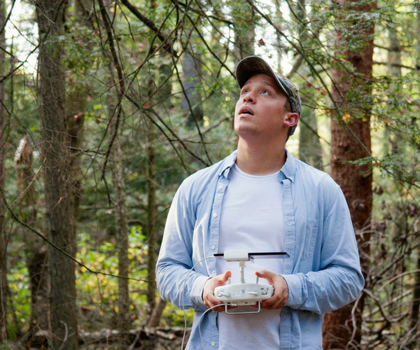 Fellow Hunter founder Parker Barnett uses a drone to survey a potential hunting location