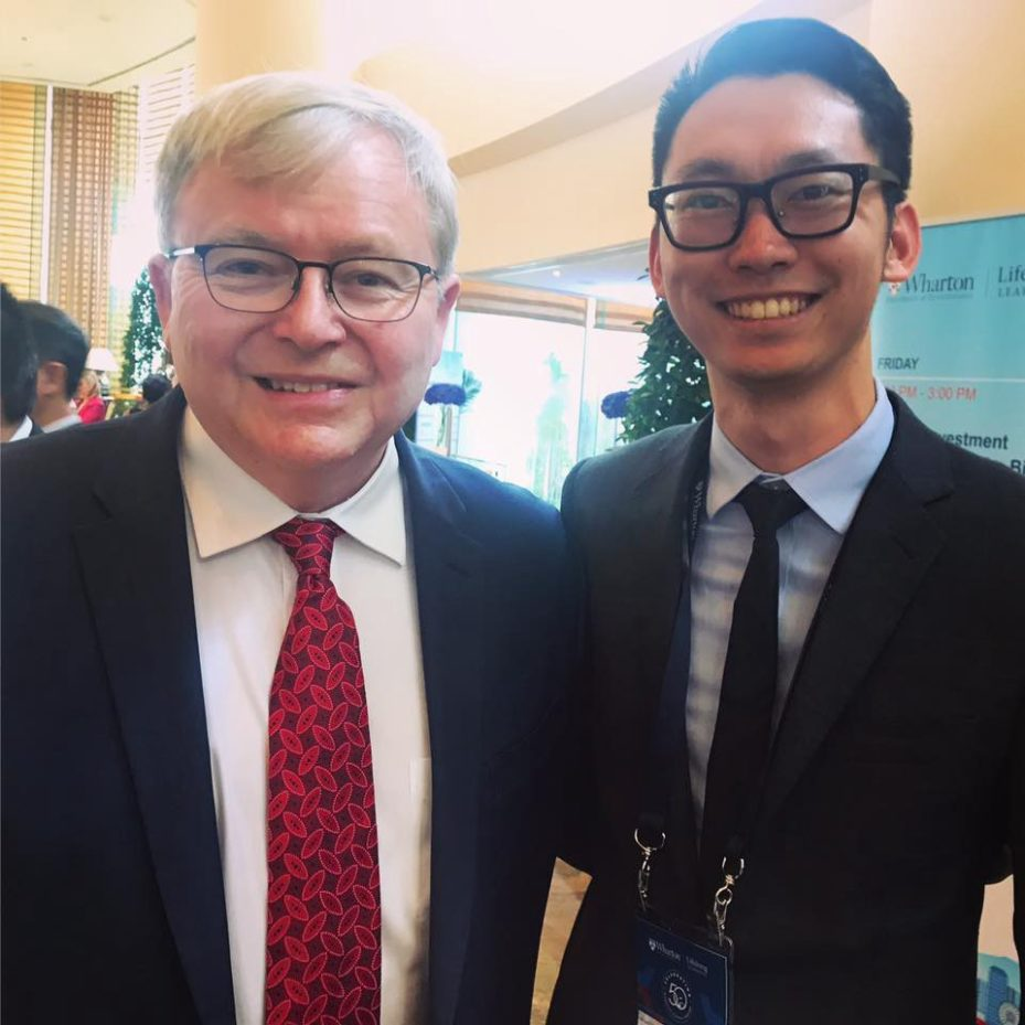 Shawn and Australian Prime Minister Kevin Rudd
