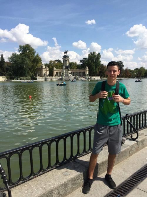 Austin exploring Madrid