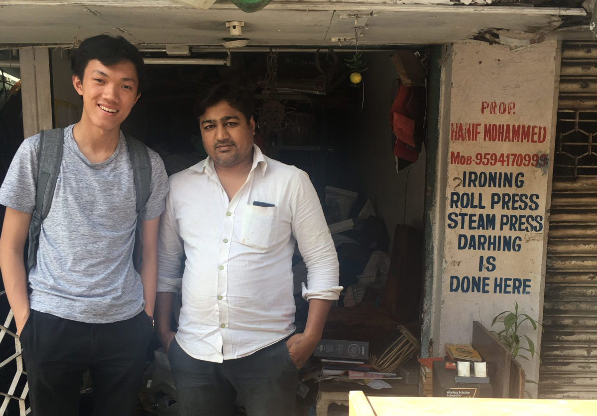 Peter with Arvind, a kabadiwala in Mumbai, during the rePurpose pilot
