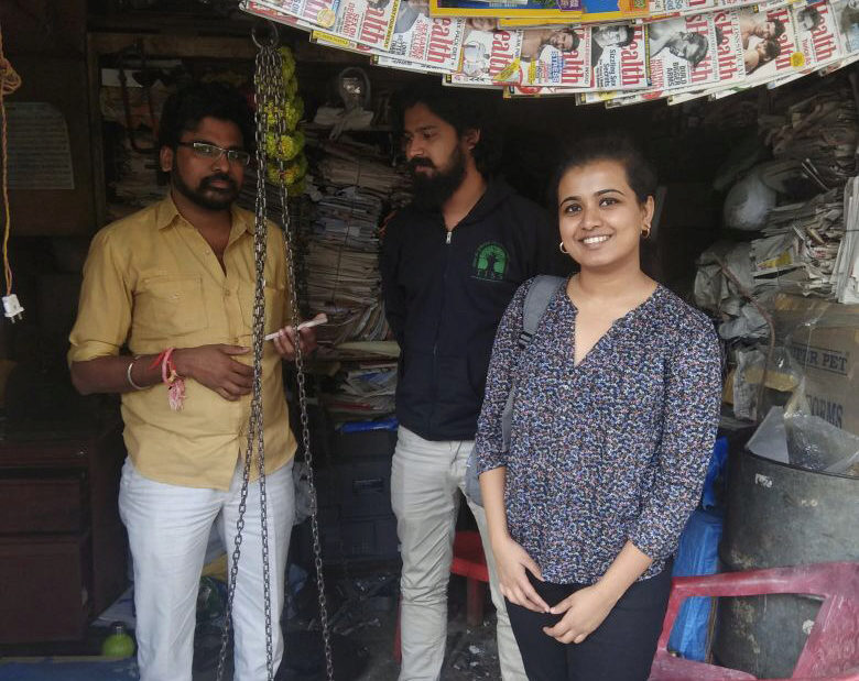 Svanika demonstrating the rePurpose app to Lalit, akabadiwalain Mumbai Fast-forward two years, it's March