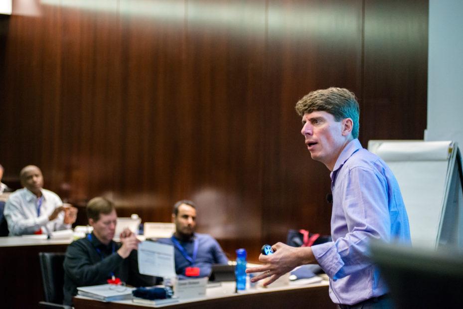 Prof. Siggelkow teaching a class