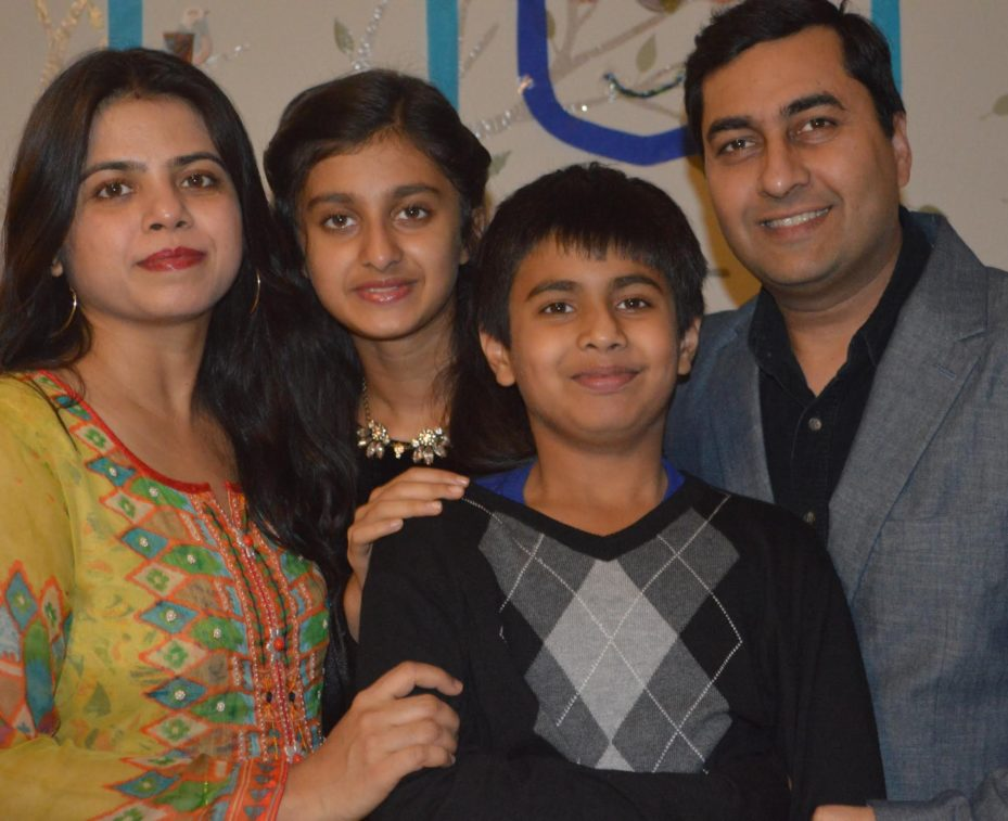 Shushant Agarwal and his family