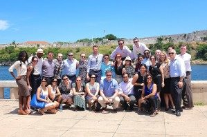 Group photo of Wharton EMBA students in Cuba for Global Business Week.