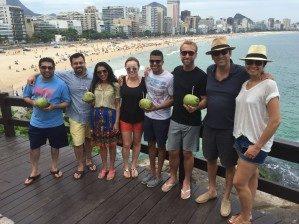 Edward Sullivan and classmates in Brazil