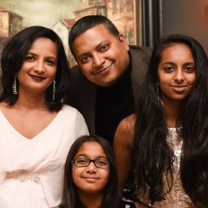 Manisha Gupta with her family