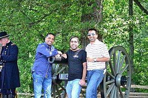 Raj and classmates at Gettysburg