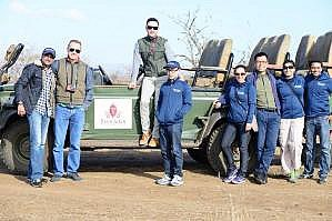Jessica and classmates on a safari in South Africa