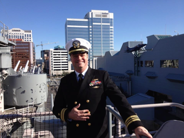 Stuart Gold in his Navy uniform