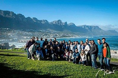Jessica and her classmates on a tour of Cape Town, South Africa