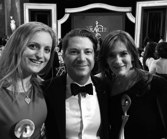 Wharton was well-represented at the 41st Annual Gracies Gala. Netflix executive Tamara Rothenberg, WG'11, Andrew Gould, WG'11, senior vice president of creative for BMG, and Women@Work host Laura Zarrow grabbed a quick picture during the award ceremony at the Beverly Wiltshire Hotel.